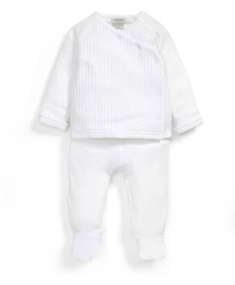 Supima Stripe Wrap Set