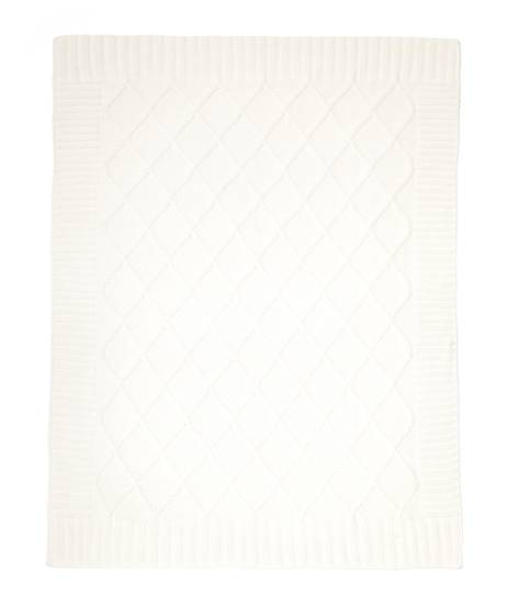 Knitted Blanket - 70 x 90cm - Off White