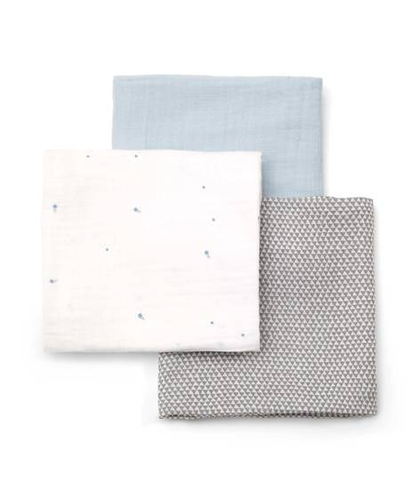 Large Muslin Squares (3 Pack) - Grey