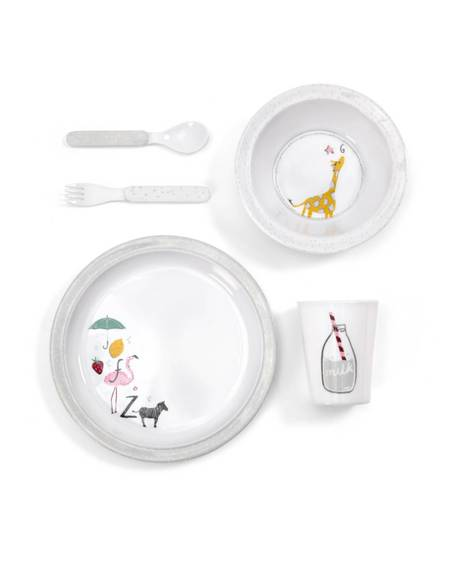 Alphabet 5 piece Dinner Set
