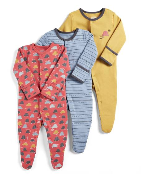 Cars Sleepsuits - Pack of 3