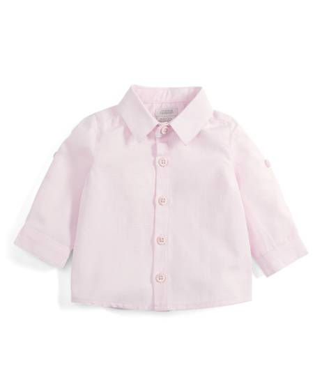 Pink Long Sleeve Cotton Shirt