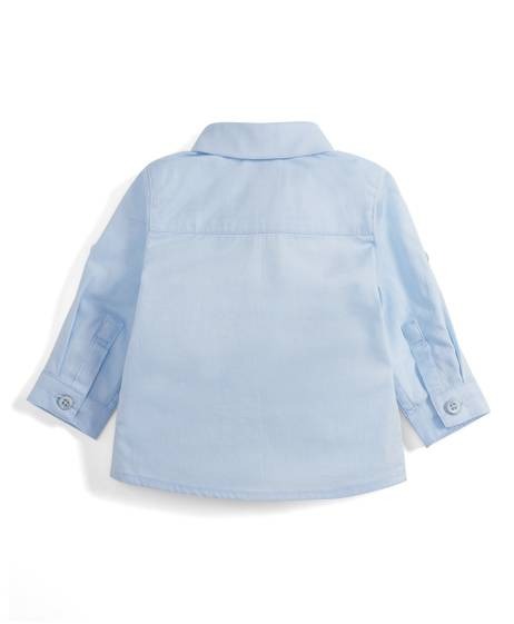 Blue Long Sleeve Cotton Shirt