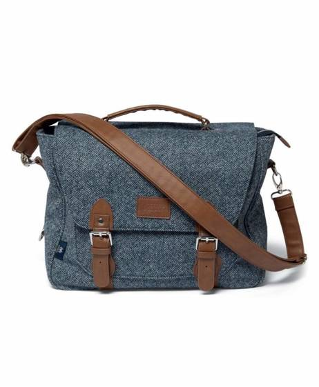 Satchel Bag X Abraham Moon - Navy Parquet