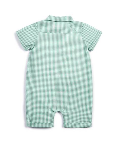 Gingham Check Romper