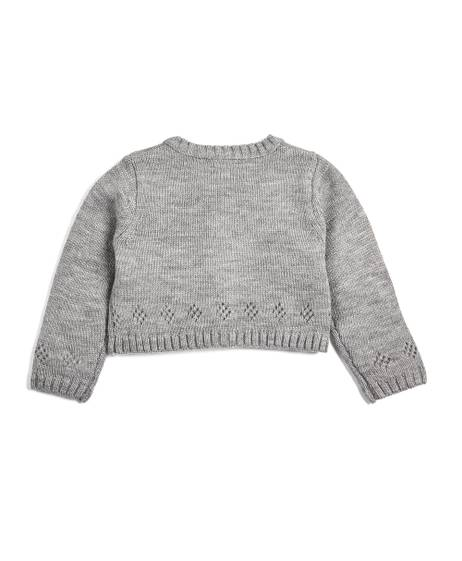 Cropped Fine Knit Cardigan