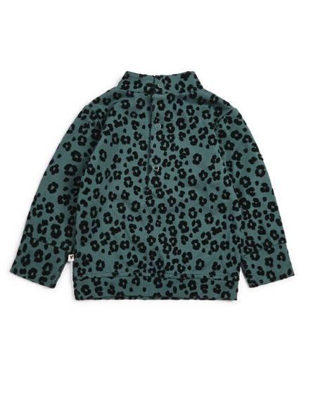 Flocked Leopard Print T-Shirt