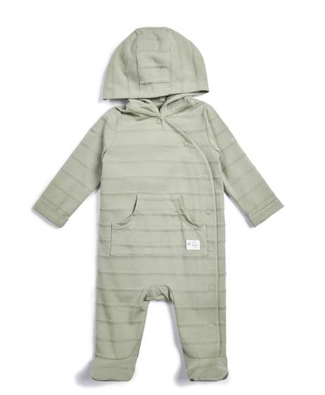 Striped Hooded Sleepsuit