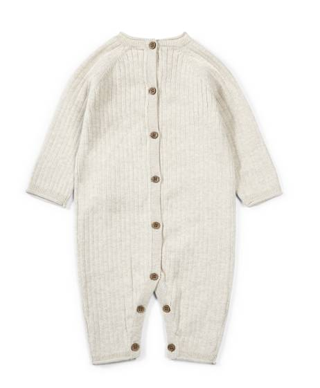 Knitted Romper with Bodysuit - 2 Piece Set