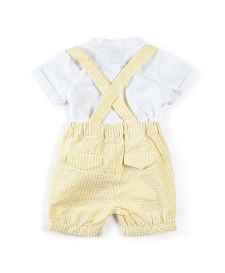 Seersucker Shirt & Bloomers - 2 Piece Set