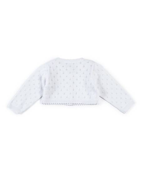 Fine Knit Cardigan - White
