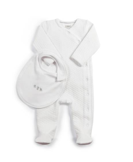 Textured All-in-One & Bib - 2 Piece Set