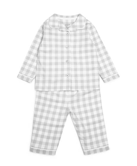 Grey Woven Pyjamas - 2 Piece Set