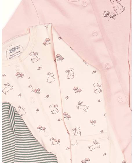 Rabbit Sleepsuit - 3 Pack