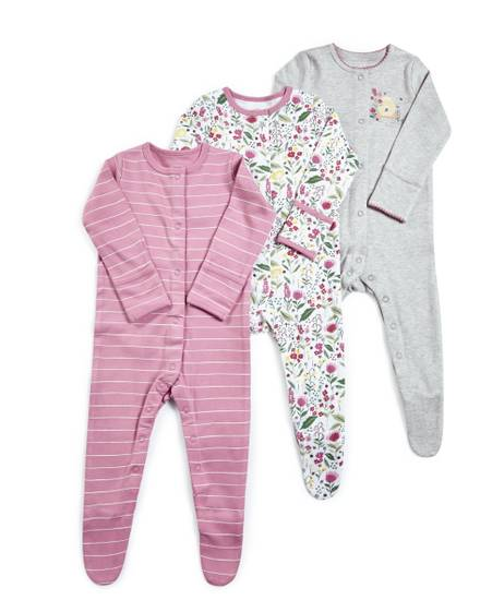 Meadow Jersey Sleepsuits - 3 Pack