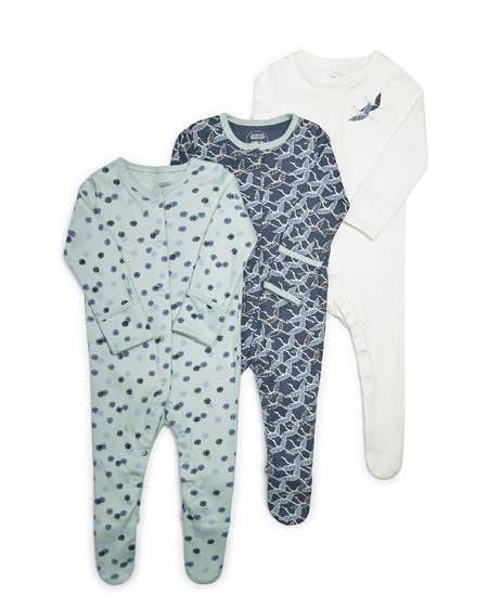 Bird Jersey Sleepsuits - 3 Pack