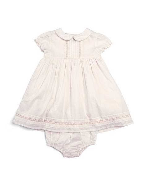 Woven Lace Trim Dress with Knickers - 2 Piece Set