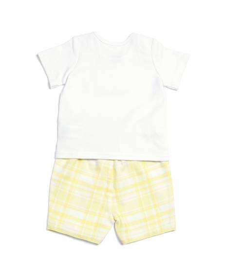 Check Short & Top - 2 Piece PJ Set