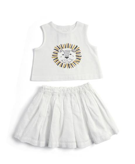 Lion Top & Skirt Set - 2 Piece
