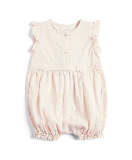 Pink Woven Mix Romper
