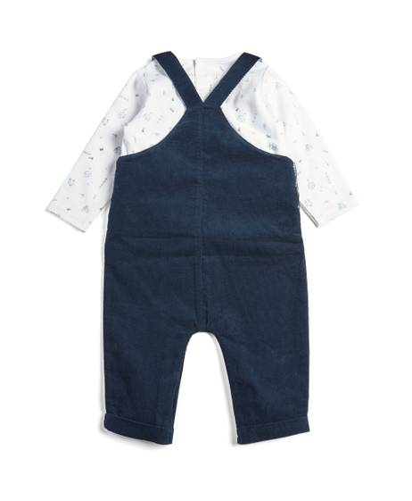 2 Piece Cord Dungaree and Tee Set