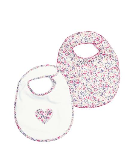 2 Pack of Liberty Floral Bibs