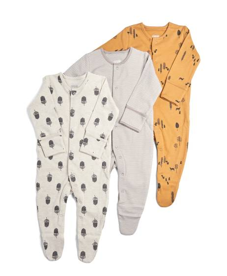 Pack of 3 Nature Sleepsuits