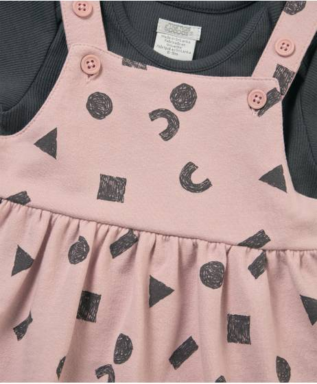 Pinny Dress & Bodysuit Set