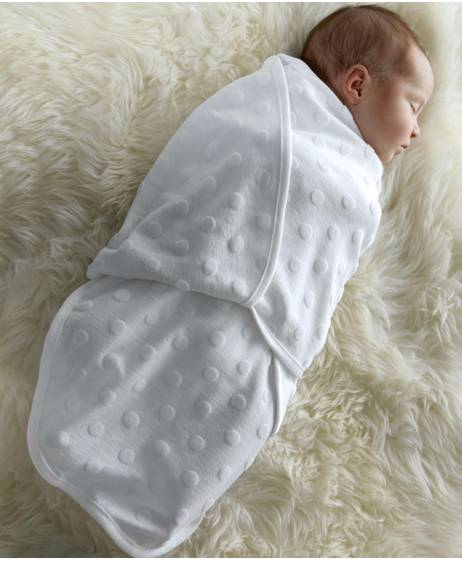 Swaddle Wrap - White Spot