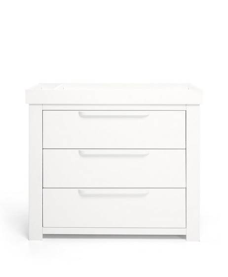 Franklin 3 Door Dresser & Changing Unit - White