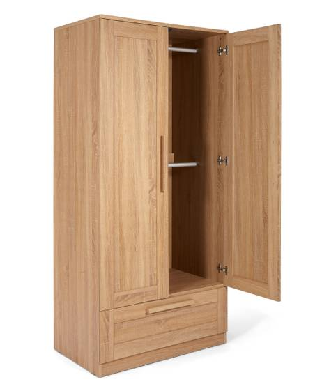 Atlas Wardrobe - Oak Effect