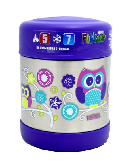 Thermosâ®- Funtainerâ® Stainless Steel Food Jar 290Ml- Owl