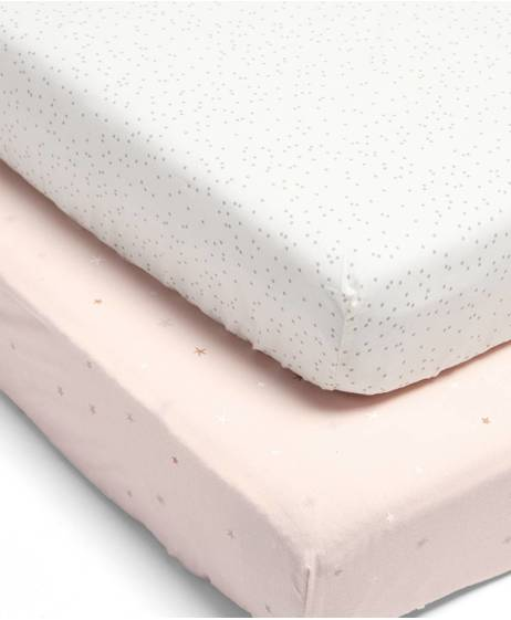 Millie & Boris Fitted Sheets (2 Pack) - Pink