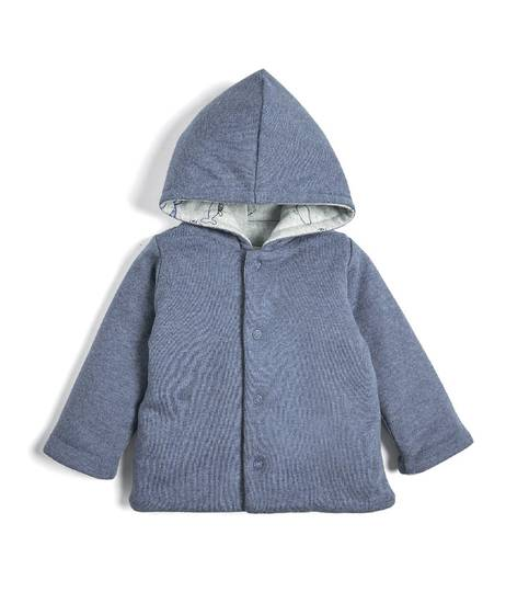 Whale Print Hooded Jacket