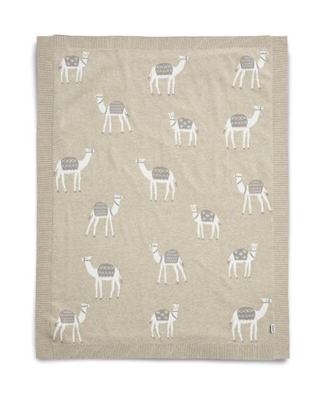 Knitted Blanket (70x90cm) - Sand Multicolor Camel
