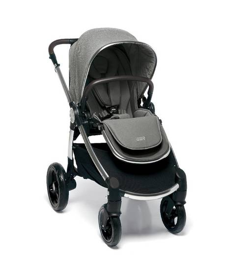 Ocarro Stroller - Woven Grey with Aton XXL Cosy Black