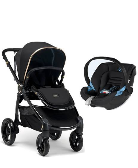 Ocarro Stroller - Black Diamond with Aton XXL Cosy Black