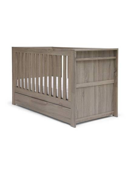 Franklin Convertible Cot & Toddler Bed 3 in 1 - Grey Wash