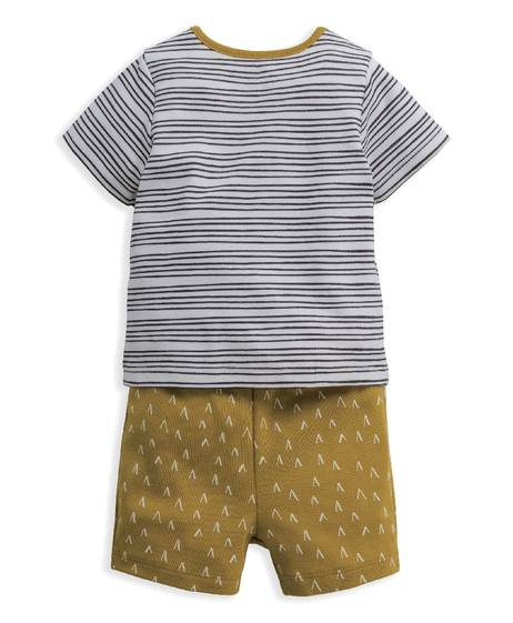 Chevron Stripe Jersey Short Pyjamas