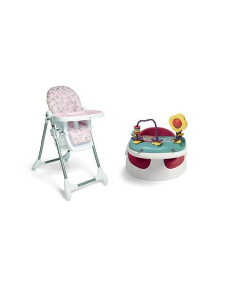 Baby Snug - Red & Snax Highchair - Alphabet Floral