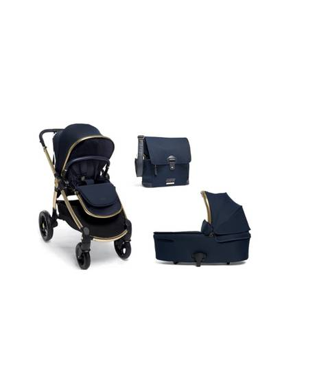 Ocarro Stroller with Carrycot and Changing Bag - Midnight