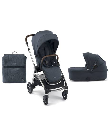 Strada Pushchair with Carrycot and Changing Bag - Navy