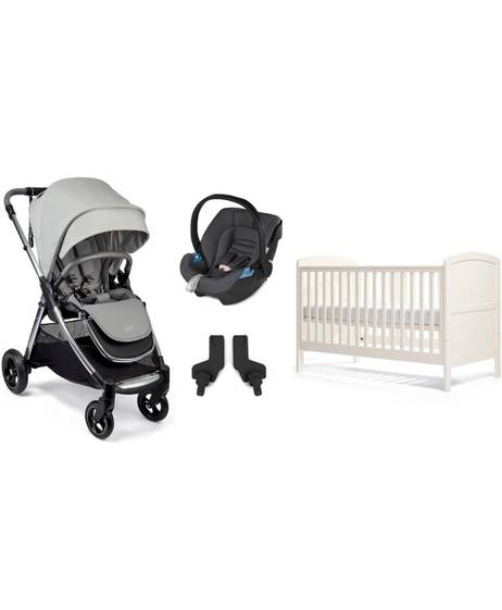 Newborn Essentials Pack with Grey Aton Car Seat