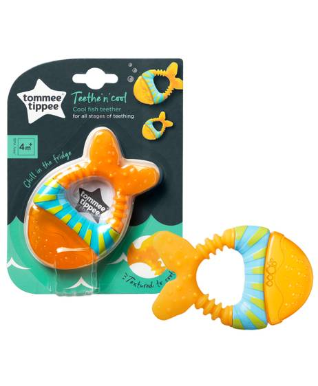 Tommee Tippee Teethe n Cool Waterfilled Teether, (4 months +) - Orange