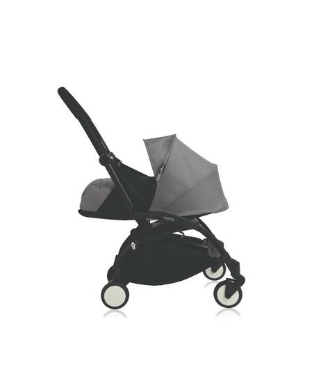 Babyzen YOYO Newborn Black Frame 2 Piece Set- Grey