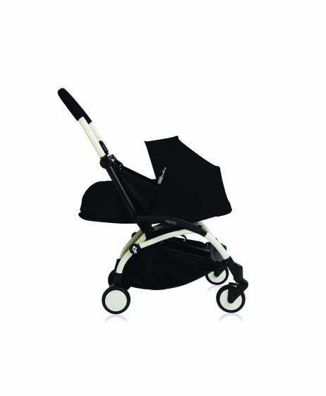 Babyzen YOYO Newborn White Frame 2 Piece Set- Black