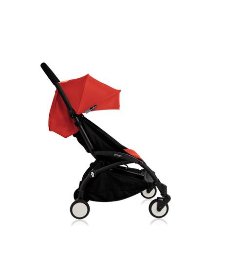 Babyzen YOYO Black Frame 6 Months+ 2 Piece Set - Red