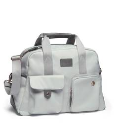 Bowling Style Changing Bag with Bottle Holder - Grey/Champange