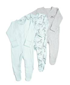 3 Pack of Zoo Animal Sleepsuits