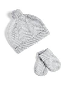 Knitted Hat and Mitts